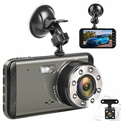 Effort Dual Dash Cam HD Front And Rear,H3 Night Vision Car Camera,4quot IPS Sc