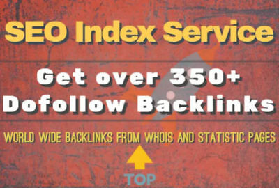 350+ Backlinks durch Index-Dienste