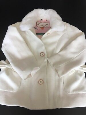 Girls White Ted Baker Coat Size 5-6 Years