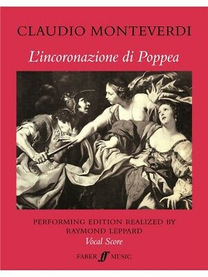 Monteverdi Claudio Poppea Vocal Score Sing Choral Voice Choral SHEET MUSIC BOOK