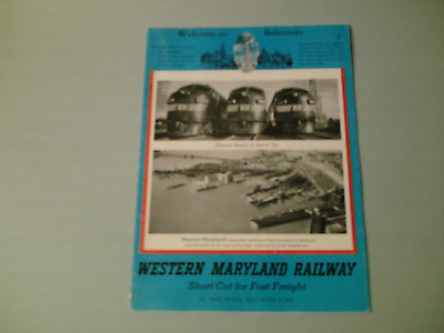 Western Maryland Railway  Short Cut For Fast Freight Industries Served Map Of RR