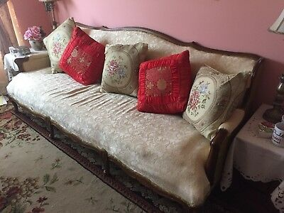 Antique Ivory Couch