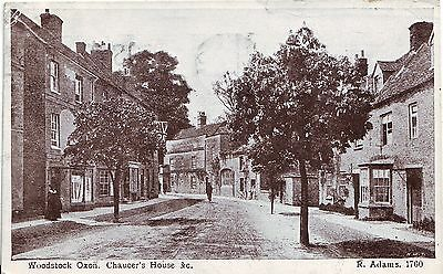 UK Woodstock Oxon - Chauser House 1928 mailed postcard