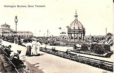 UK Great Yarmouth - Wellington Gardes 1910 cover PO # 3 postcard