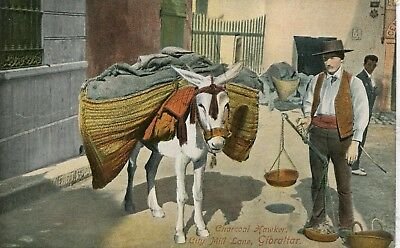 UK Gibraltar - City Mill Lane Charcoal Hawker pre WWI postcard