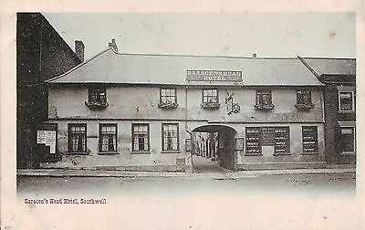 UK Southwell - Saracen's Head Hotel old postcard
