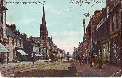 UK Scotland Aberdeen - Union Street 1909 cover mailed postcard