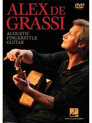 Grassi Alex De Acoustic Fingerstyle Guitar Learn to Play Present MUSIC DVD