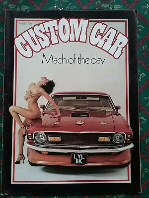 Custom Car Magazine August 1977 Issue in reasonable condition some storage wear.