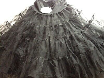 Long Flared Black 50s Style Petticoat BNWTs. Size 12. Dolly And Dotty.