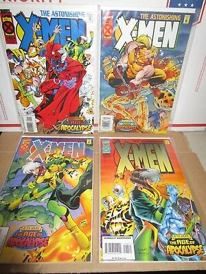 Age Of Apocalypse Astonishing Xmen  1,2,3,4 Mini Series Marvel-Nm-Bagged/boarded