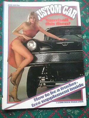 Custom Car Magazine June 1981 Issue in reasonable condition some storage wear.
