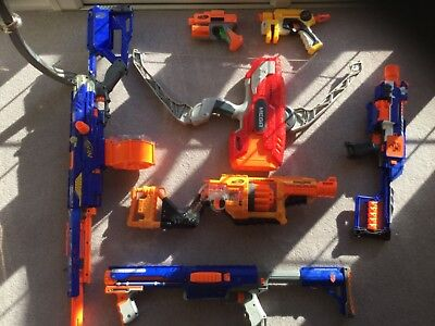 Nerf gun bundle - includes sought after Longstrike CS-6