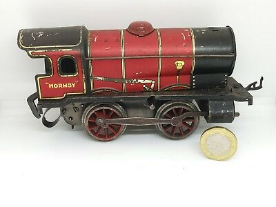 Antique Red Clock Work Hornby & Meccano  of Liverpool  locomotive / Train