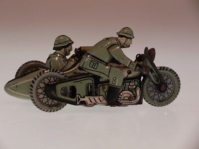 """GSMOTO PENNY TOYS """"MILITARY RIDER WITH SIDE CAR"""" CKO N0.2, 10 cm, BESPIELT/USED"""