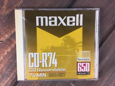 MAXELL CD-R74 650MB 74 Min. Writable CD-R 1x-8x compatible