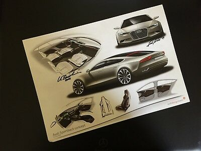 Audi Sportback Concept Drawing Issued to Motoring Press