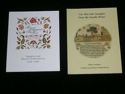 Two Samplers Catalogues By Witney Antiques 1998 And 2004