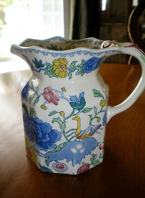 Mason's England PLANTATION COLONIAL Pitcher/Jug Large 32 oz. Ironstone Floral
