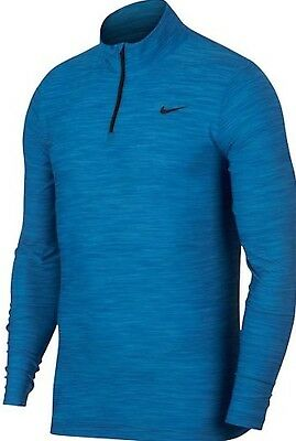 Nike NWT XL Dri-Fit Breathe 1/4 Zip Training Top-Light Photo Blue long sleeve