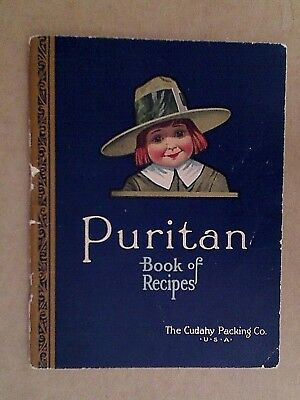 Vintage Cook Books - 1924 Puritan Book Of Recipes Hams & Bacon Dishes Yum Food