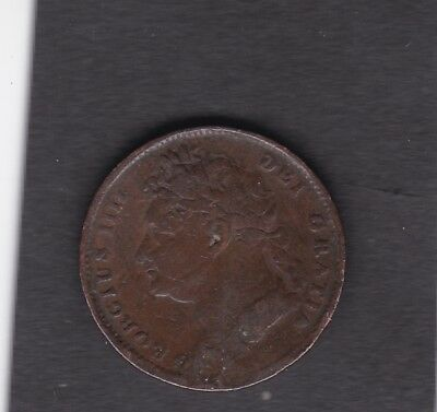 1821 George IIII Farthing coin Collectible Condition  t3