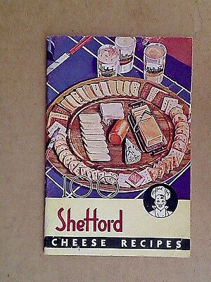 VINTAGE COOK BOOKS - 1938 SHEFFORD CHEESE RECIPES WI Olde Yorke Tid Bits Haskins