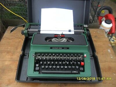 Retro Silver-Reed 500 Typewriter And Case.