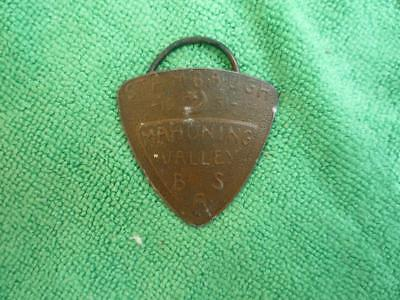Stambaugh Mahoning Valley 1951 B S A triangle neckerchief slide, bolo