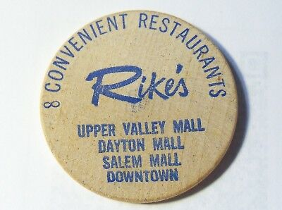 Vintage Rike's Department Store Free Cup of Coffee Token Dayton Springfield Ohio