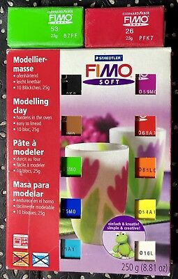 Fimo Soft Polymer Clay Colours Starter Modelling Set 12 X 25g Pack FREE P&P