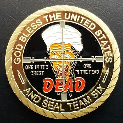 MISSION ACCOMPLISHED U.S ARMY Seal Team Six Challenge Coin FREE COIN STAND