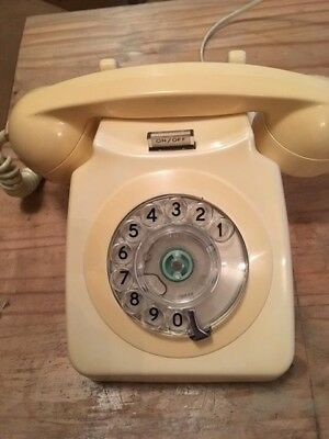 GPO 746 Telephone Original 1970s Ivory and converted