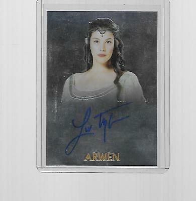 2004 Topps Chrome Lord Of The Rings Liv Tyler As Arwen Autograph