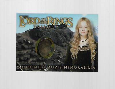 2004 Topps Chrome Lord Of The Rings Eowyn's Edoras Stables Dress Costume Card