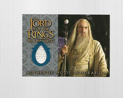 2004 Topps Chrome Lord Of The Rings Saruman's Overtunic Costume Card