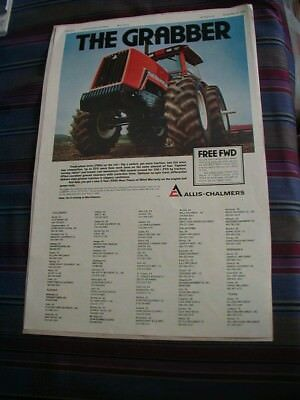 1984 allis chalmers tractor magazine print ad rare farmer ad color The Grabber