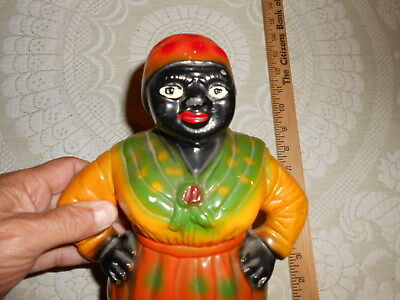 Antique 1939 Aunt Jemima Black Americana Carnival Paper Mache Coin Bank