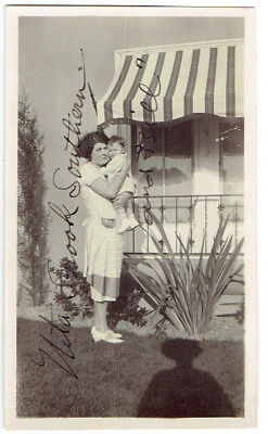 Early 1920's Photo Signed By Neta Snook Southern (With Baby Bill) Taught Earhart