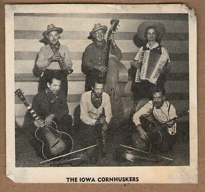 The Iowa Cornhuskers Country Band Vintage Newspaper Picture Clipping