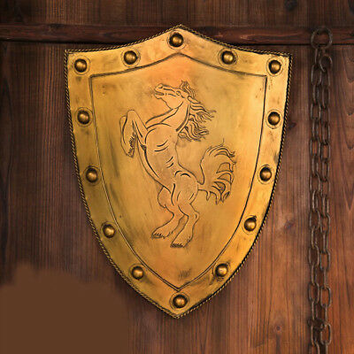 D38 Europe Retro Medieval Shield Antique Knight Armour Wall Home Decor Full Size