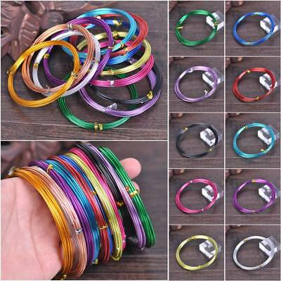 12/15/18Gauge 1.0/1.5/2.0mm Aluminum Jewelry Metal Wrap Craft Wire 11 Color/Roll