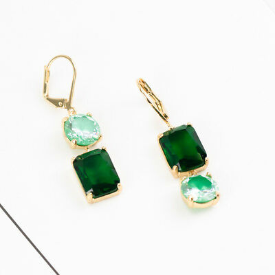 Kate Spade new york Gold-Tone Green Crystal Mismatch Earrings $58 with dust bag
