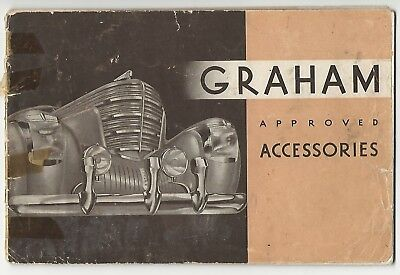Late 1930s Graham Paige Approved Auto Accessories Catalogue Great Graphics