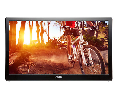 "AOC E1659FWU 15.6"" 1366 x 768 8ms USB3 Powered Portable LED Monitor"