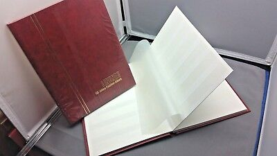 LINDNER Stamp Stockbook 165 x 220 mm - 16 Sides RED Cover - White Pages  2 BOOKS