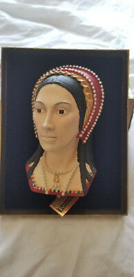 """""""Anne Boloyn"""" Vintage Bossons Chalkware Signed w/Display Box"""