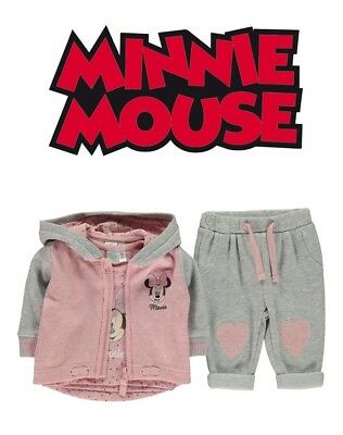 Veste zippée+Pantalon+tee-shirt fille Minnie Mouse Disney du 6 au 24 mois
