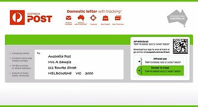 Domestic letter with tracking Small Prepaid Envelope - Pack of 10