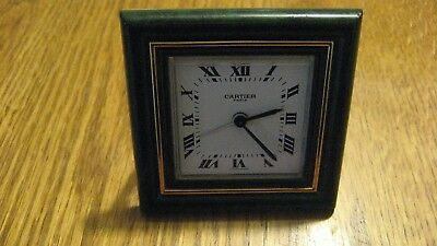 Cartier Roman Numeral Travel Clock with Case